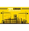 Under Construction site 404 page template vector image vector image