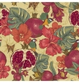 Vintage Seamless Background Tropical Fruit vector image vector image