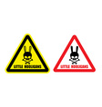 Warning danger sign Gently little hooligans vector image
