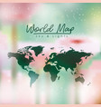 world map in green color and multicolor opacity vector image vector image