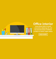 office interior banner horizontal concept vector image