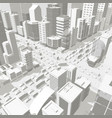 3d city buildings background street in light gray vector image vector image