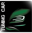 Abstract with green tuning sports car vector image vector image