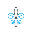 architectural ornament linear icon concept vector image