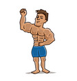 attractive bodybuilder vector image
