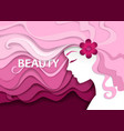 beauty salon in paper art vector image vector image