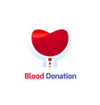 blood donation logo template vector image