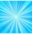 blue white ray background vector image vector image