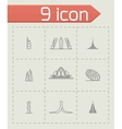 Buildings icon set vector image vector image