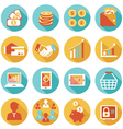 Business and E Commerce Icons Set vector image vector image
