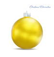 christmas tree golden ball isolated on white vector image