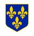 coat arms france vector image vector image