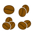 coffee beans icon set vector image vector image