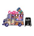 coffee shop outdoor composition vector image