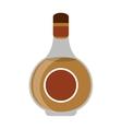 cognac bottle alcochol drink style vector image