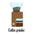color of the coffee grinder vector image vector image