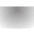 concentric rings pattern vector image vector image