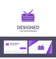 creative business card and logo template drum vector image vector image