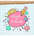 Cute cartoon characters Back to school background vector image vector image