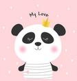 cute cartoon panda princess vector image vector image