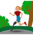 Cute running girl in cartoon style vector image