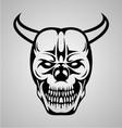 Devil Skull Tattoo vector image vector image