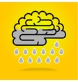 Drops falling from brain vector image vector image