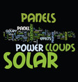 effects of clouds on a solar panel text vector image vector image