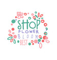 flower shop bloom best logo template hand drawn vector image vector image