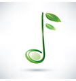 green musical note abstract background vector image vector image
