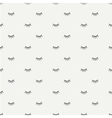 Hand drawn seamless pattern with close eyes vector image