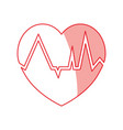 heartbeat count red vector image vector image