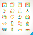 Highlighter Line Icons Set 3 vector image