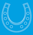 Horseshoe icon outline