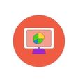 in flat design of Business pie vector image vector image
