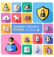 Internet Security Decorative Flat Icons Set vector image vector image