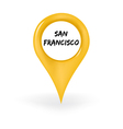Location San Francisco vector image