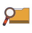 magnifying glass cartoon vector image vector image
