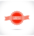 mark of best quality vector image vector image