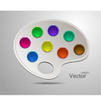 Modern art palette with colors vector image vector image