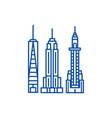 new york skyline line icon concept new york vector image vector image