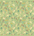 ostern gentle rabbit seamless pattern vector image vector image