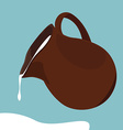Pouring milk vector image vector image