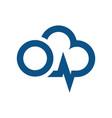 power cloud energy logo design vector image vector image
