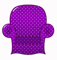 Purple dotted chair clipart isolated on white vector image vector image