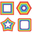 rainbow square star and other - geometric vector image vector image