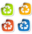 recycle stickers vector image vector image