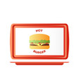 red plastic tray vector image vector image