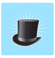 s top hat - poster with vintage capitalist hat vector image