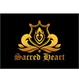 sacred heart logo vector image